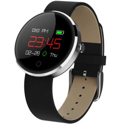 Bratara Fitness iUni DM78, Display OLED, Pedometru, Monitorizare puls, Notificari, Compatibil cu Android si iOS, Negru