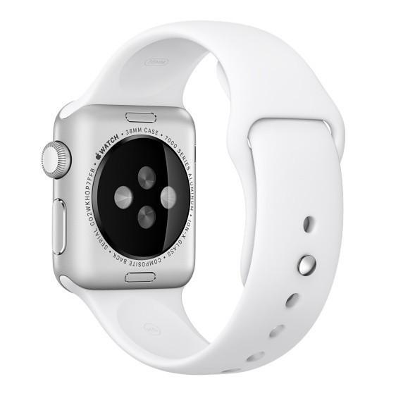 Curea pentru Apple Watch 42 mm Silicon iUni White imagine techstar.ro 2021