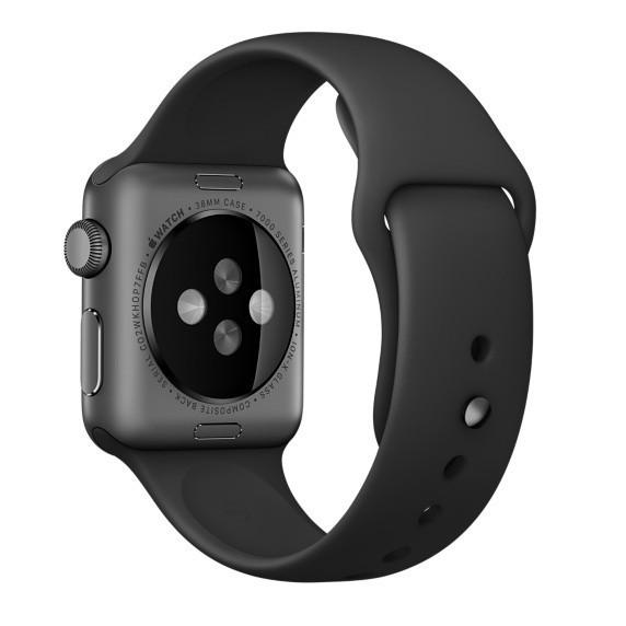 Curea pentru Apple Watch 38 mm Silicon iUni Black imagine techstar.ro 2021