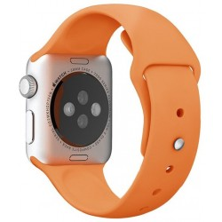 Curea pentru Apple Watch 38 mm Silicon iUni Orange