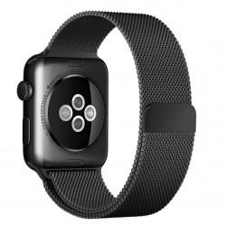 Curea pentru Apple Watch 42mm Otel Inoxidabil iUni Space Black Milanese Loop