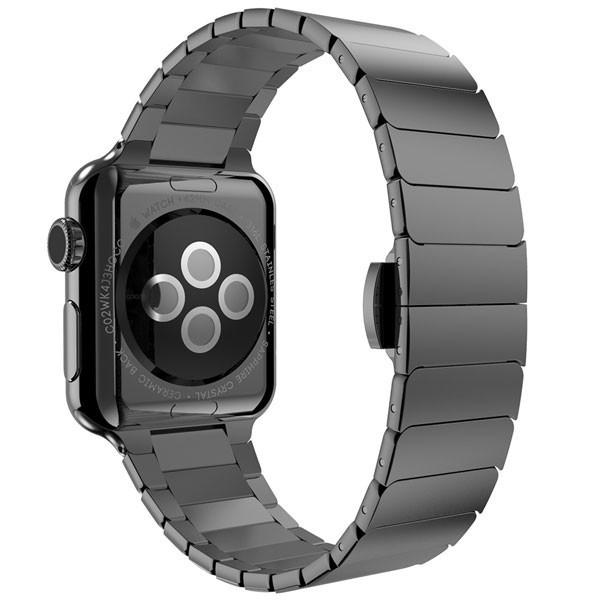 Curea pentru Apple Watch 38mm Otel Inoxidabil iUni Black Link Bracelet