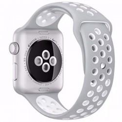 Curea pentru Apple Watch 38 mm Silicon iUni Argintiu-Alb