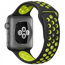 Curea pentru Apple Watch 38 mm Silicon iUni Negru-Galben