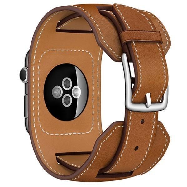 Curea pentru Apple Watch 42 mm piele iUni Cuff Maro
