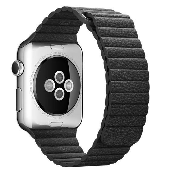 Curea piele pentru Apple Watch 38mm iUni Black Leather Loop