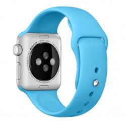 Curea pentru Apple Watch 38 mm Silicon iUni Blue