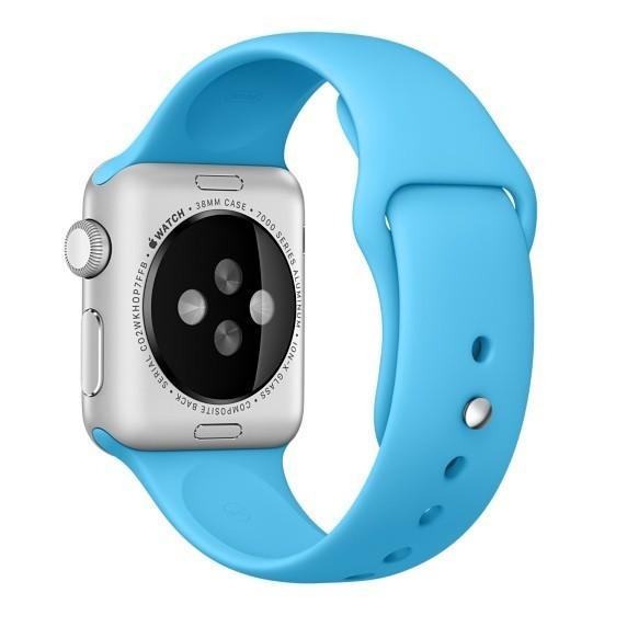 Curea pentru Apple Watch 38 mm Silicon iUni Blue