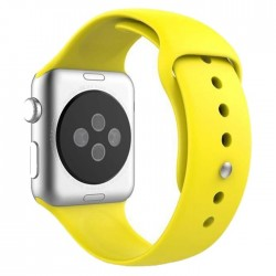 Curea pentru Apple Watch 38 mm Silicon iUni Yellow