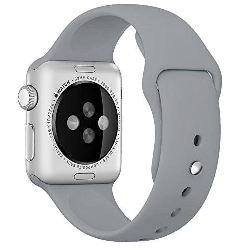 Curea pentru Apple Watch 38 mm Silicon iUni Gray