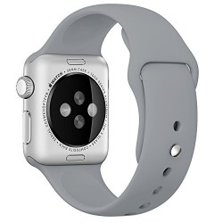 Curea pentru Apple Watch 42 mm Silicon iUni Gray