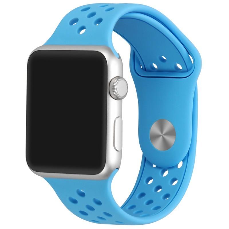 Curea pentru Apple Watch 38 mm Silicon Sport iUni Blue