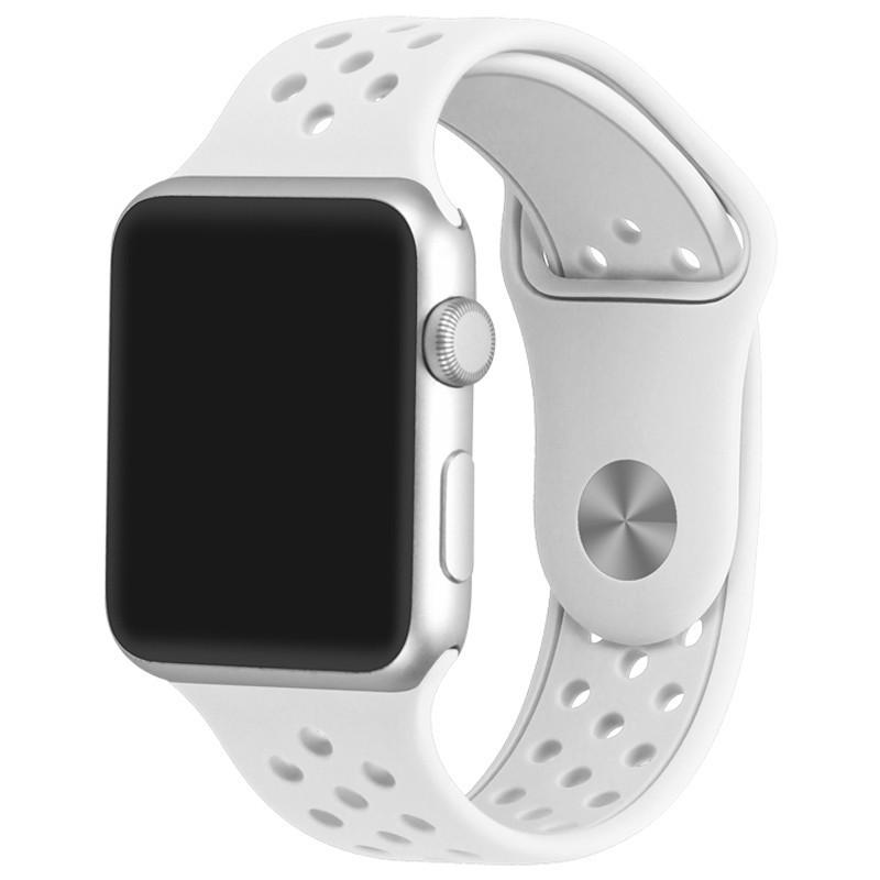 Curea pentru Apple Watch 38 mm Silicon Sport iUni White