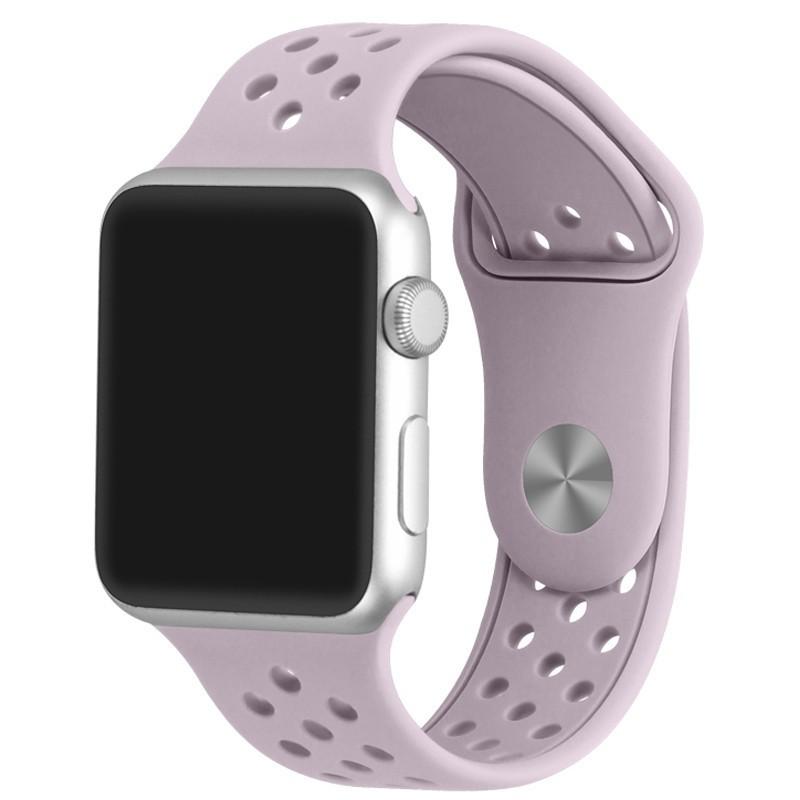 Curea pentru Apple Watch 38 mm Silicon Sport iUni Soft Purple