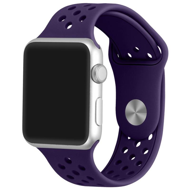 Curea pentru Apple Watch 38 mm Silicon Sport iUni Purple