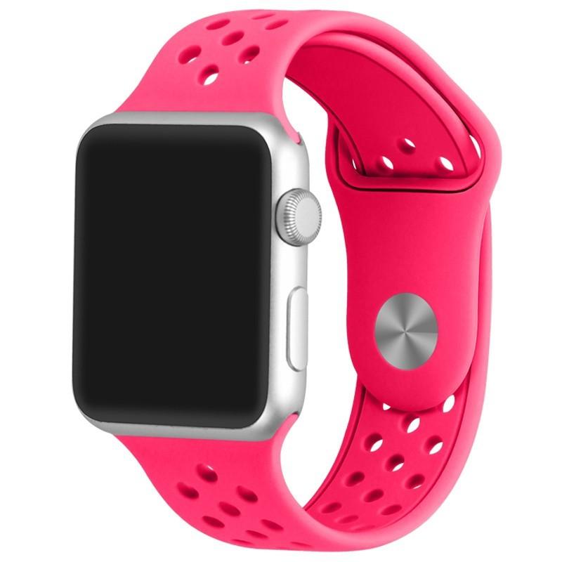 Curea pentru Apple Watch 38 mm Silicon Sport iUni Pink
