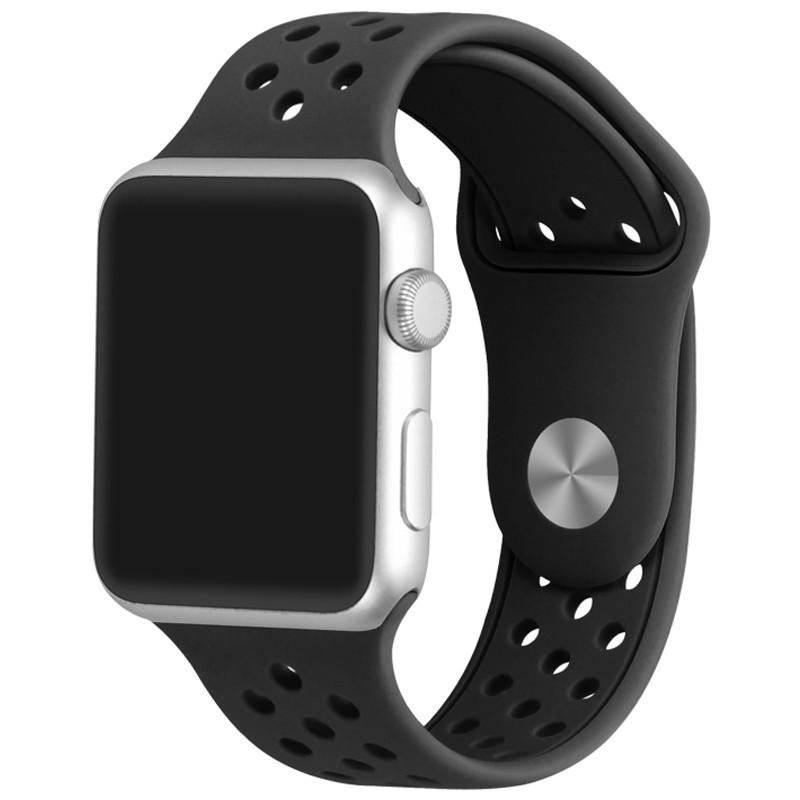 Curea pentru Apple Watch 38 mm Silicon Sport iUni Black