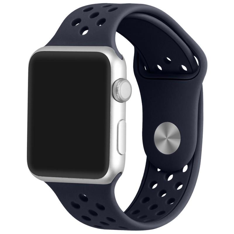 Curea pentru Apple Watch 38 mm Silicon iUni Dark Blue