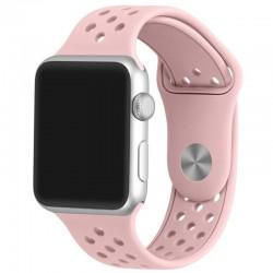 Curea pentru Apple Watch 38 mm Silicon Sport iUni Soft Pink