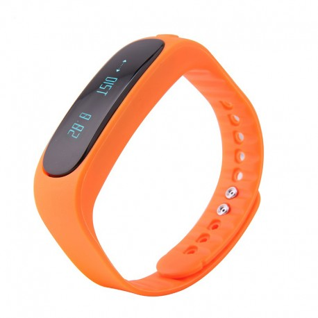 Bratara Smart Fitness Bluetooth E02 albastru