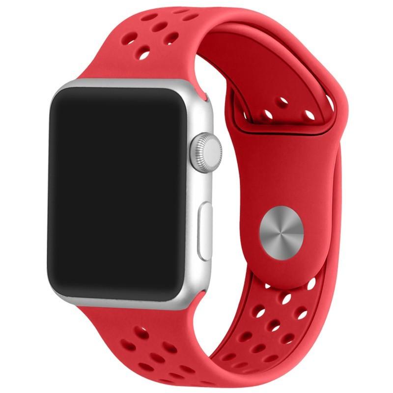 Curea pentru Apple Watch 42 mm Silicon Sport iUni Red
