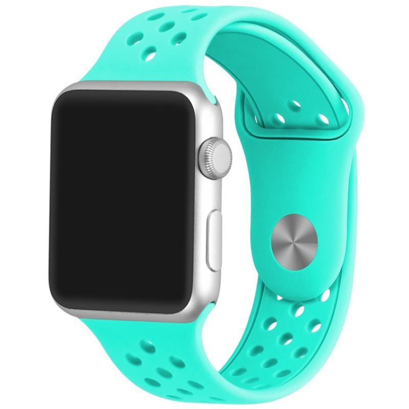 Curea pentru Apple Watch 42 mm Silicon Sport iUni Light Blue