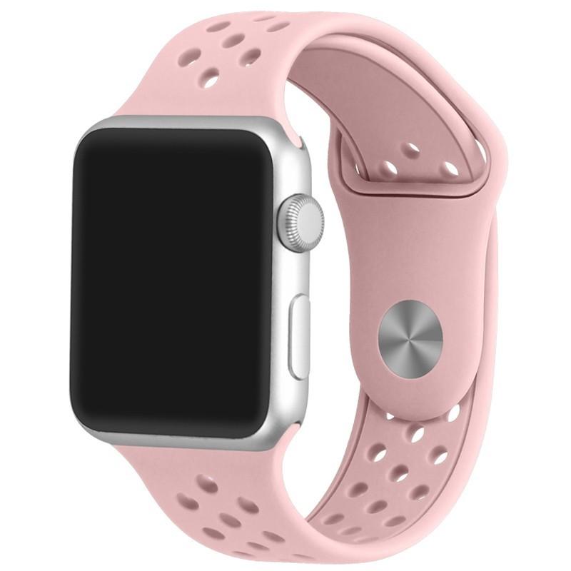 Curea pentru Apple Watch 42 mm Silicon Sport iUni Soft Pink