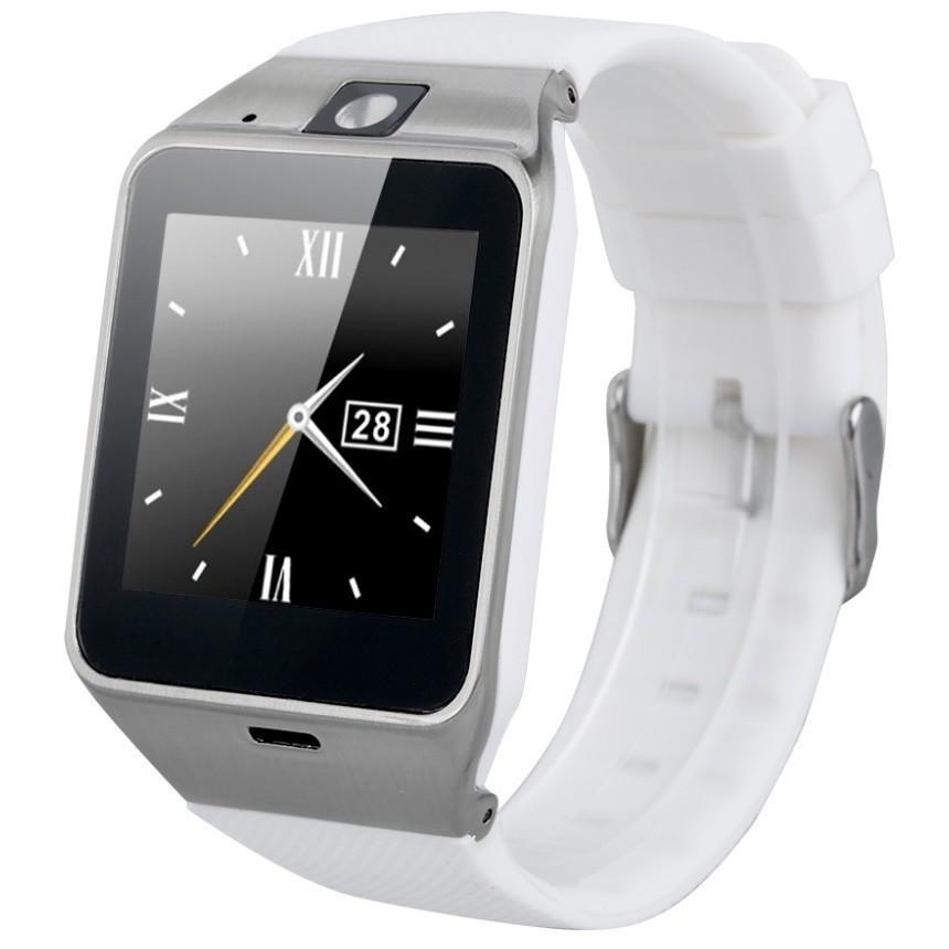 Ceas Smartwatch cu telefon iUni U15 A+, Camera, BT, 1.5 Inch, Carcasa metalica, Alb