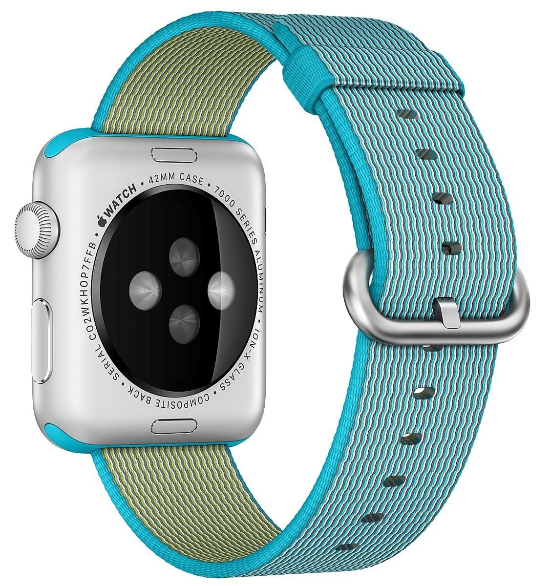 Curea pentru Apple Watch 38 mm iUni Woven Strap, Nylon, Electric Blue