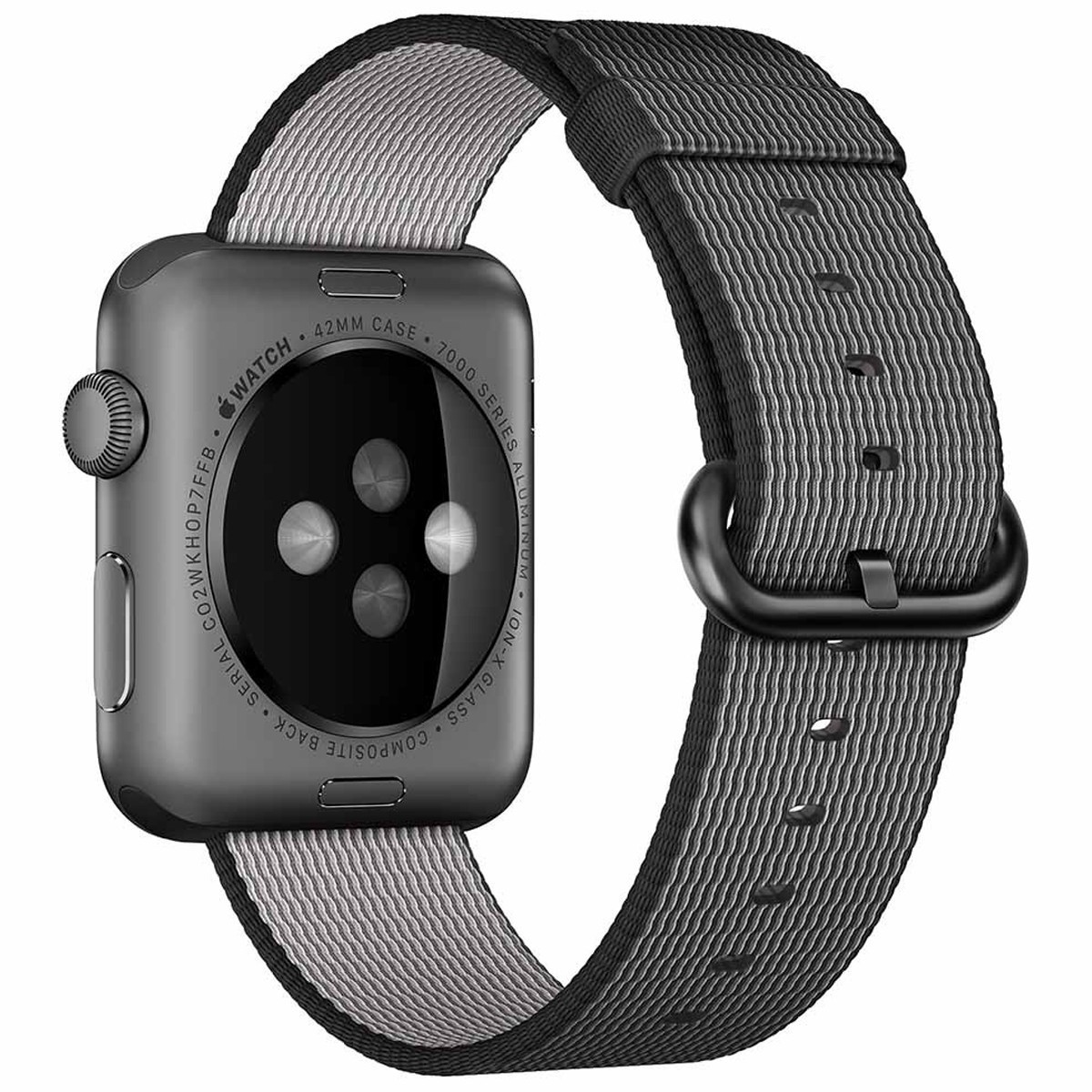 Curea pentru Apple Watch 38 mm iUni Woven Strap, Nylon, Electric Gray