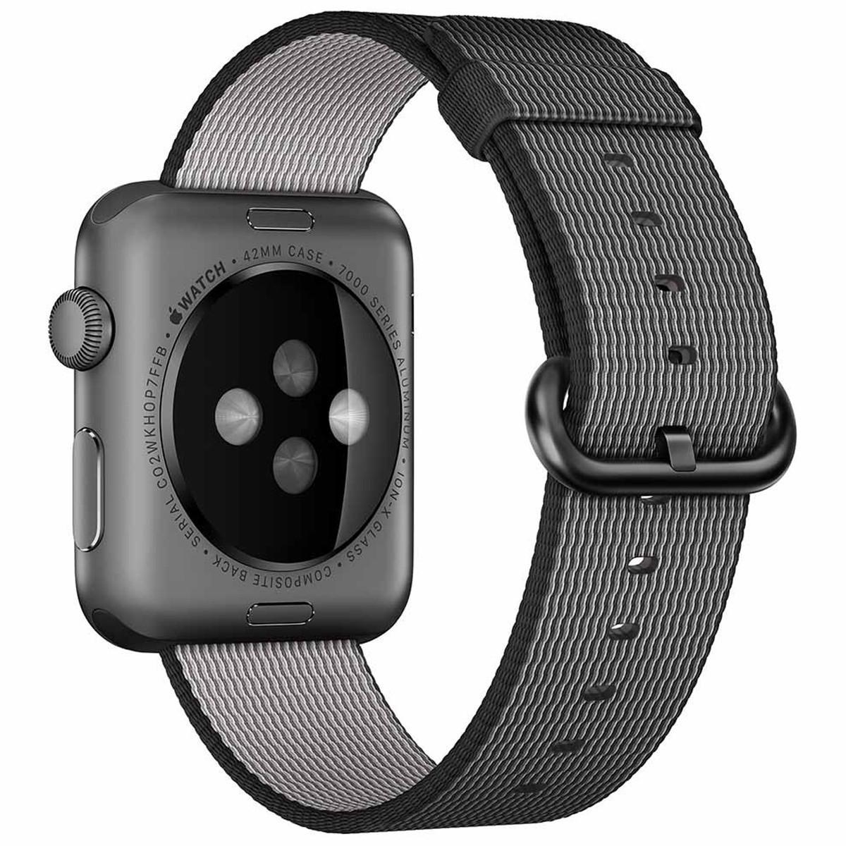 Curea pentru Apple Watch 38 mm iUni Woven Strap, Nylon, Electric Gray