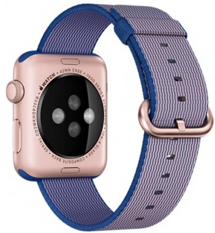 Curea pentru Apple Watch 38 mm iUni Woven Strap, Nylon, Electric Purple