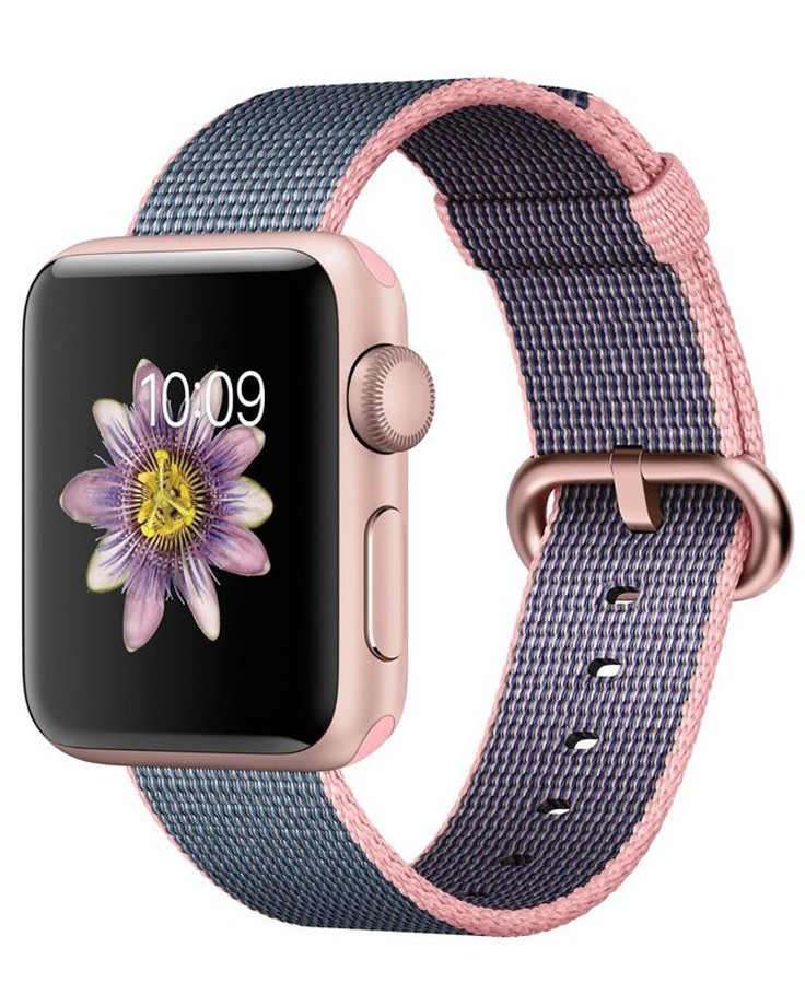 Curea pentru Apple Watch 42 mm iUni Woven Strap, Nylon, Dark Purple