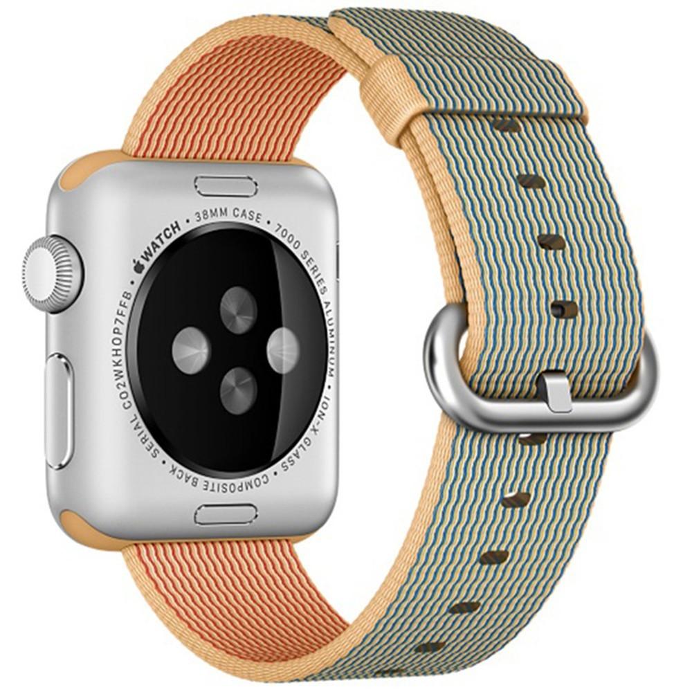 Curea pentru Apple Watch 38 mm iUni Woven Strap, Nylon, Gold Gray