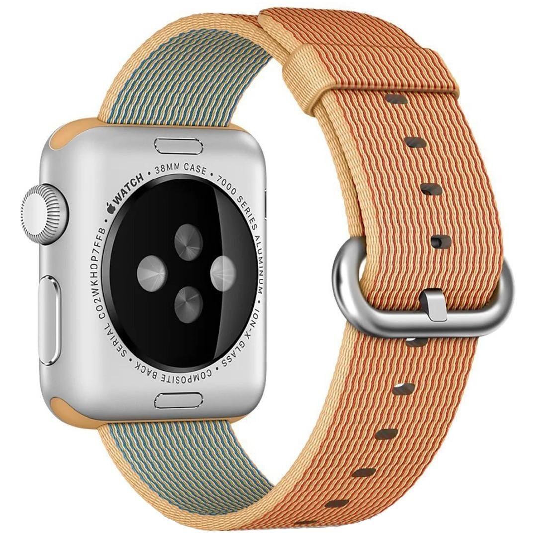 Curea pentru Apple Watch 38 mm iUni Woven Strap, Nylon, Gold Red