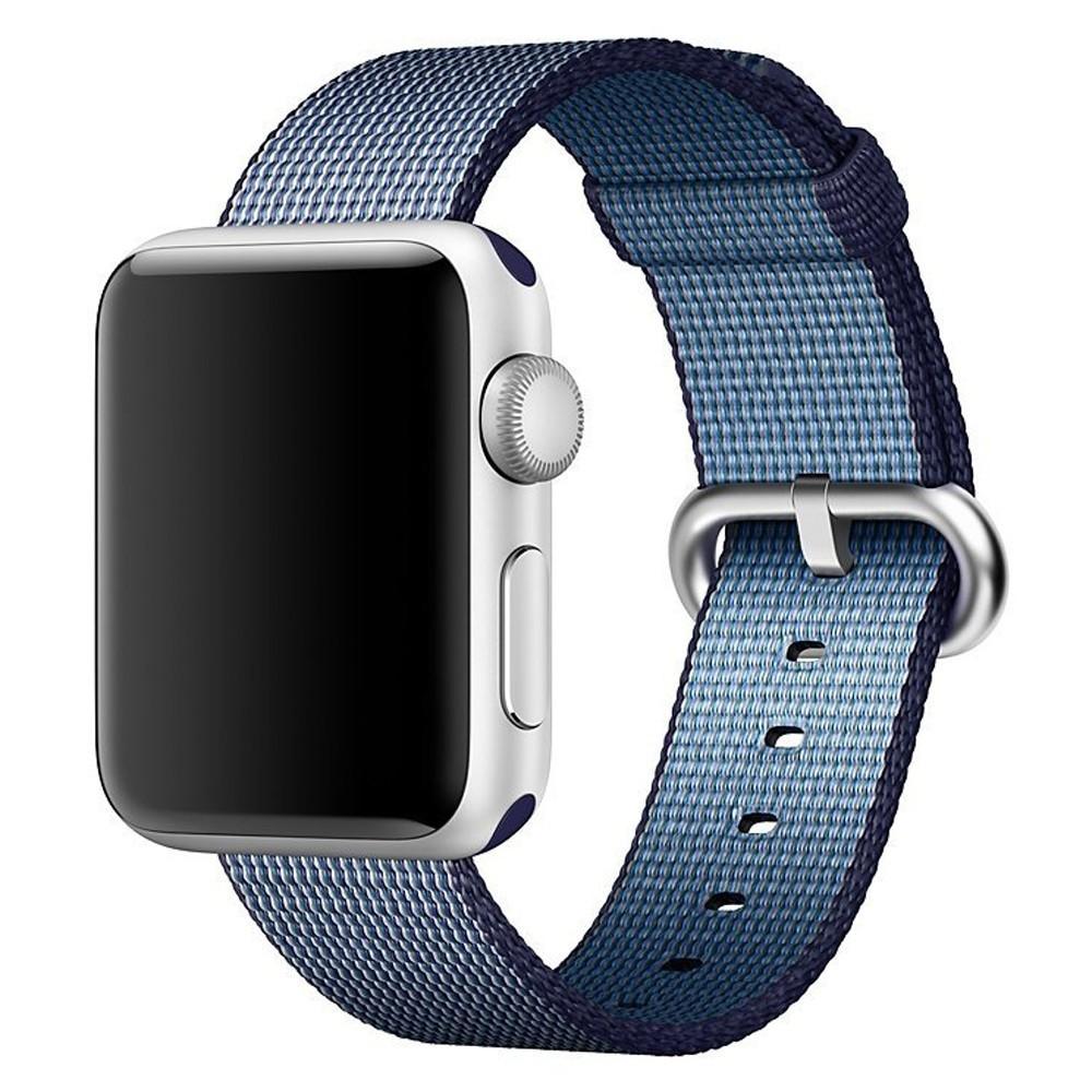 Curea pentru Apple Watch 42 mm iUni Woven Strap, Nylon, Midnight Blue