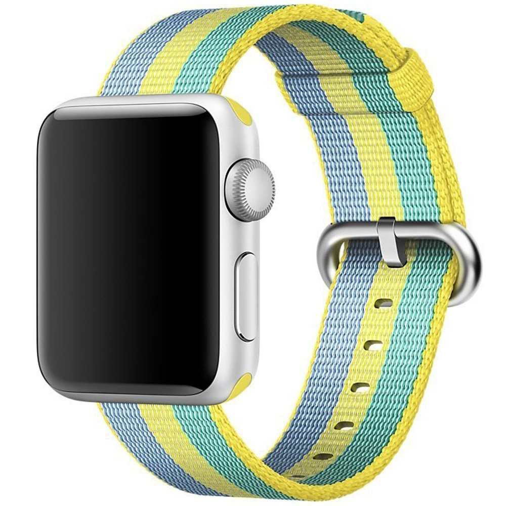 Curea pentru Apple Watch 42 mm iUni Woven Strap, Nylon, Pollen