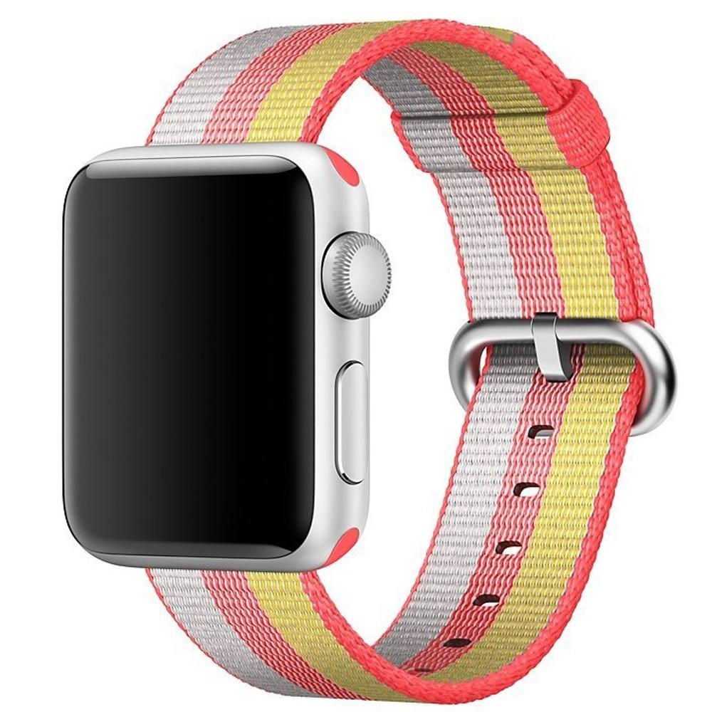 Curea pentru Apple Watch 38 mm iUni Woven Strap, Nylon, Rainbow