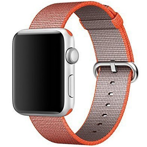 Curea pentru Apple Watch 42 mm iUni Woven Strap, Nylon, Red Velvet