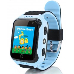 Ceas GPS Copii iUni Kid530, Touchscreen, Telefon incorporat, BT, Camera 1.3MP, Lanterna, Buton SOS, Albastru
