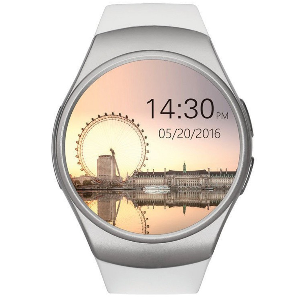 Ceas Smartwatch cu Telefon iUni KW18, Touchscreen, 1.3 Inch HD, Camera, Notificari, iOS si Android, White