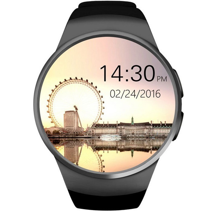 Ceas Smartwatch cu Telefon iUni KW18, Touchscreen, 1.3 Inch HD, Camera, Notificari, iOS si Android, Black