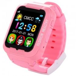 Ceas GPS Copii iUni Kid3, Telefon incorporat, Touchscreen 1.54 inch, Bluetooth, Notificari, Camera, Roz