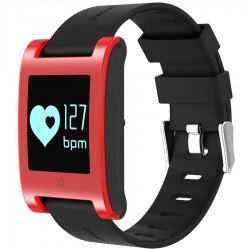 Bratara Fitness iUni DM68, Waterproof, Display OLED, Pedometru, Monitorizare puls, Notificari, Rosu
