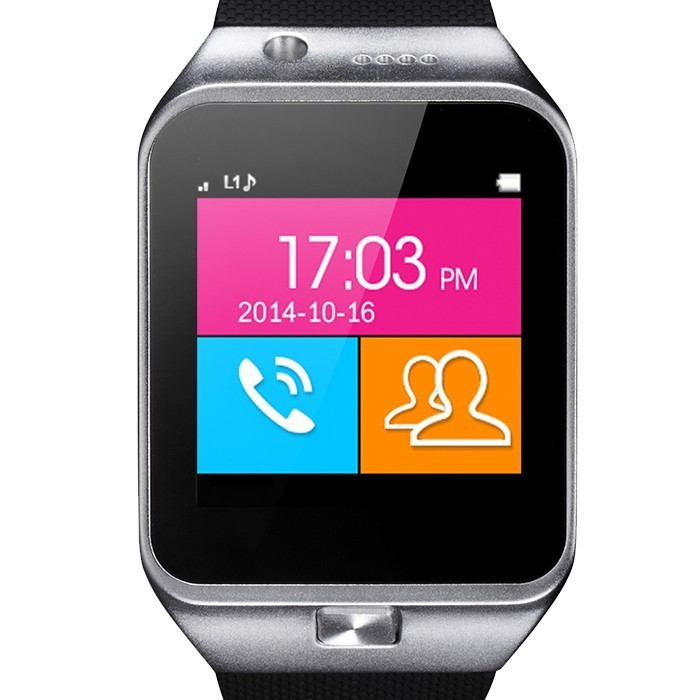 Ceas Smartwatch cu Telefon iUni U17, Camera 1.3MP, BT, Slot card, Argintiu