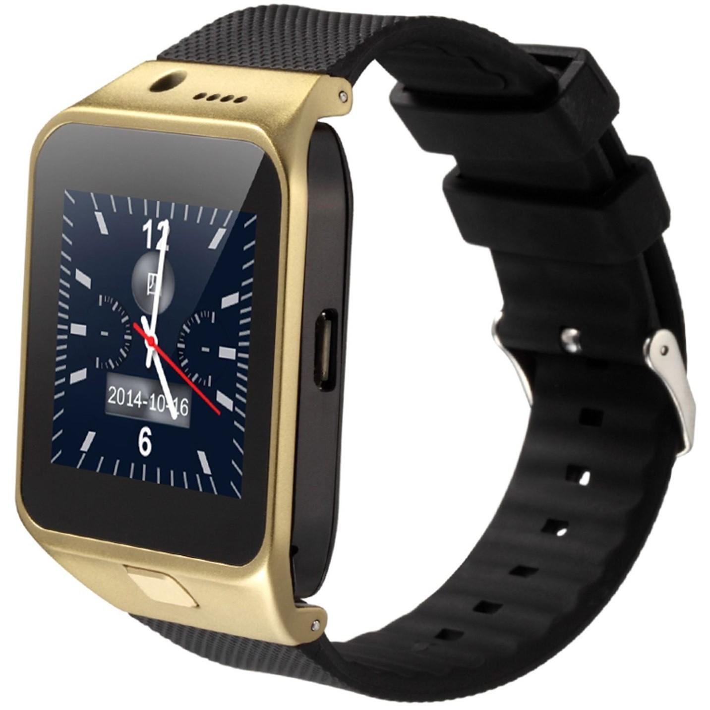 Ceas Smartwatch cu Telefon iUni U17, Camera 1.3M, BT, Slot card, Auriu imagine techstar.ro 2021