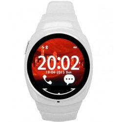 Ceas Smartwatch iUni O100, BT, LCD 1.3 Inch, Alb