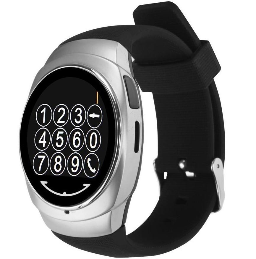 Ceas Smartwatch iUni O100, BT, LCD 1.3 Inch, Camera, Silver imagine techstar.ro 2021