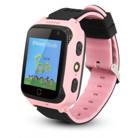 Ceas GPS Copii iUni Kid530, Touchscreen, Telefon incorporat, BT, Camera, Buton SOS, Roz