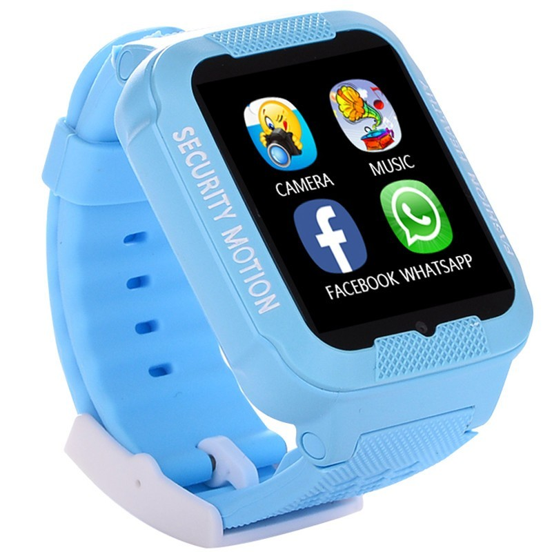Ceas GPS Copii iUni Kid3, Telefon incorporat, Touchscreen 1.54 inch, Bluetooth, Notificari, Camera, Albastru imagine